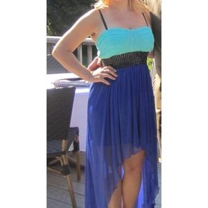 Dresses & Skirts - Two-toned Blue High Low Party Dress